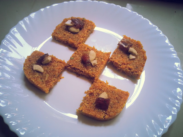 carrot burfi,recipe,carrot recipe