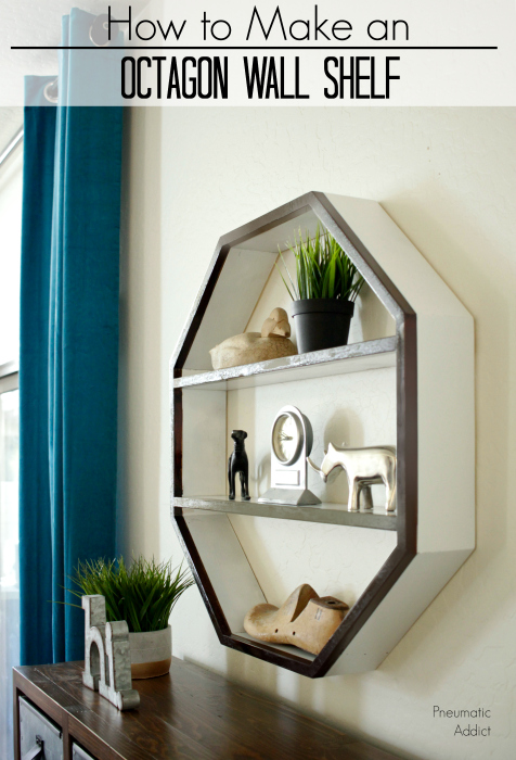 How to build an octagon shaped wall shelf with this simple tutorial and building plans