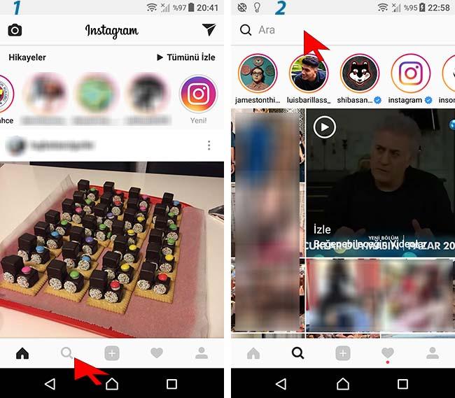 instagram hastag takip etme özelliği
