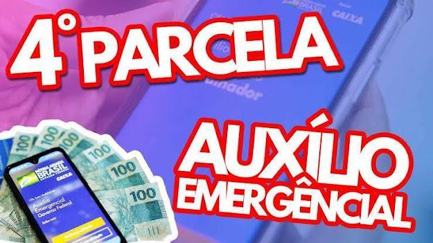 Calendário da quarta parcela do auxílio emergencial