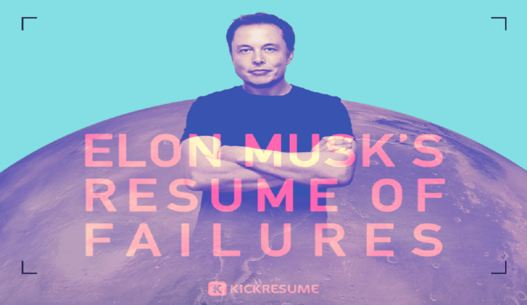 Elon Musk's Resume of Failures Proves That Your Failures Aren't Big Enough #infographic