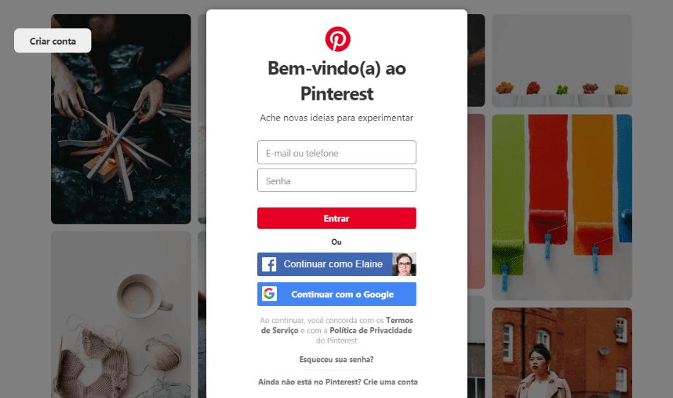 Como criar a conta e começar a usar o Pinterest no computador