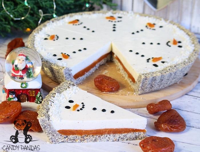 Tarta sernikowa bałwanki z nadzieniem morelowym (bez glutenu, cukru białego)