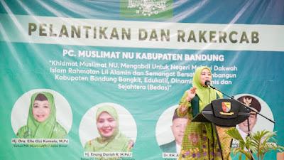 Lina Ruzhan Dorong Muslimat NU Membentuk Karakter Perempuan Berakhlak
