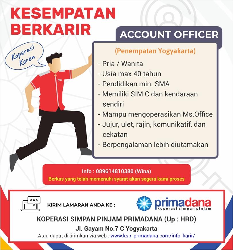 Semarang Kerja Sebagai Account Officer di  KSP Primadana Semarang lihat syaratnya dibawah ini