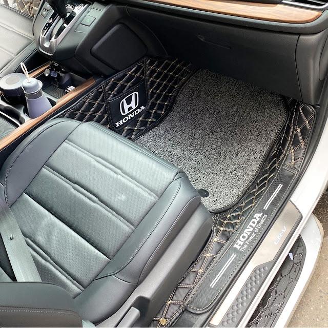 Thảm lót sàn 5D 6D xe Honda CR-V| Thảm sàn da Honda CRV| May thảm da Honda CR-V| Thảm rối Honda CR-V| Phụ kiện thảm sàn Honda CR-V