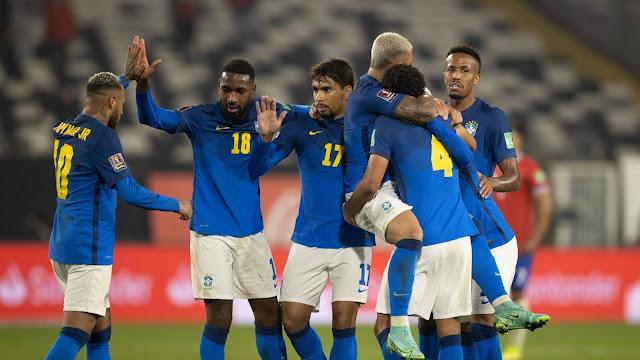 ملخص وهدف فوز البرازيل على تشيلي (1-0) تصفيات كاس العالم