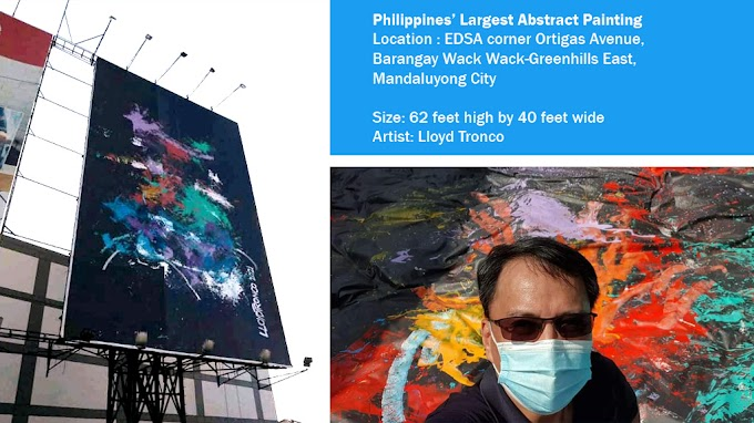 The Philippines' Largest Abstract Painting can be seen in Mandaluyong City