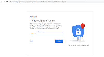 gmail password recovery via sms