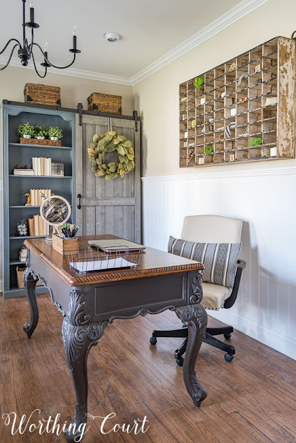 farmhouse style home office makeover