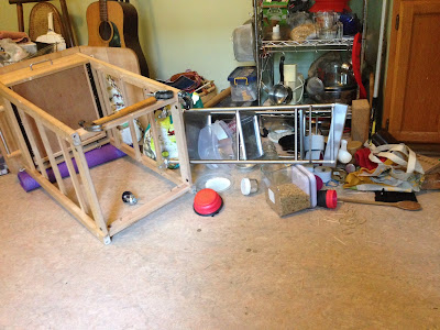Kitchen carts crashed on floor
