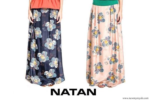Queen Maxima wore Natan blue flower print blouse