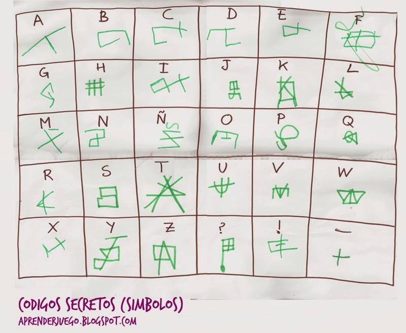 Codigos Secretos De Simbolos Aprender Con El Juego