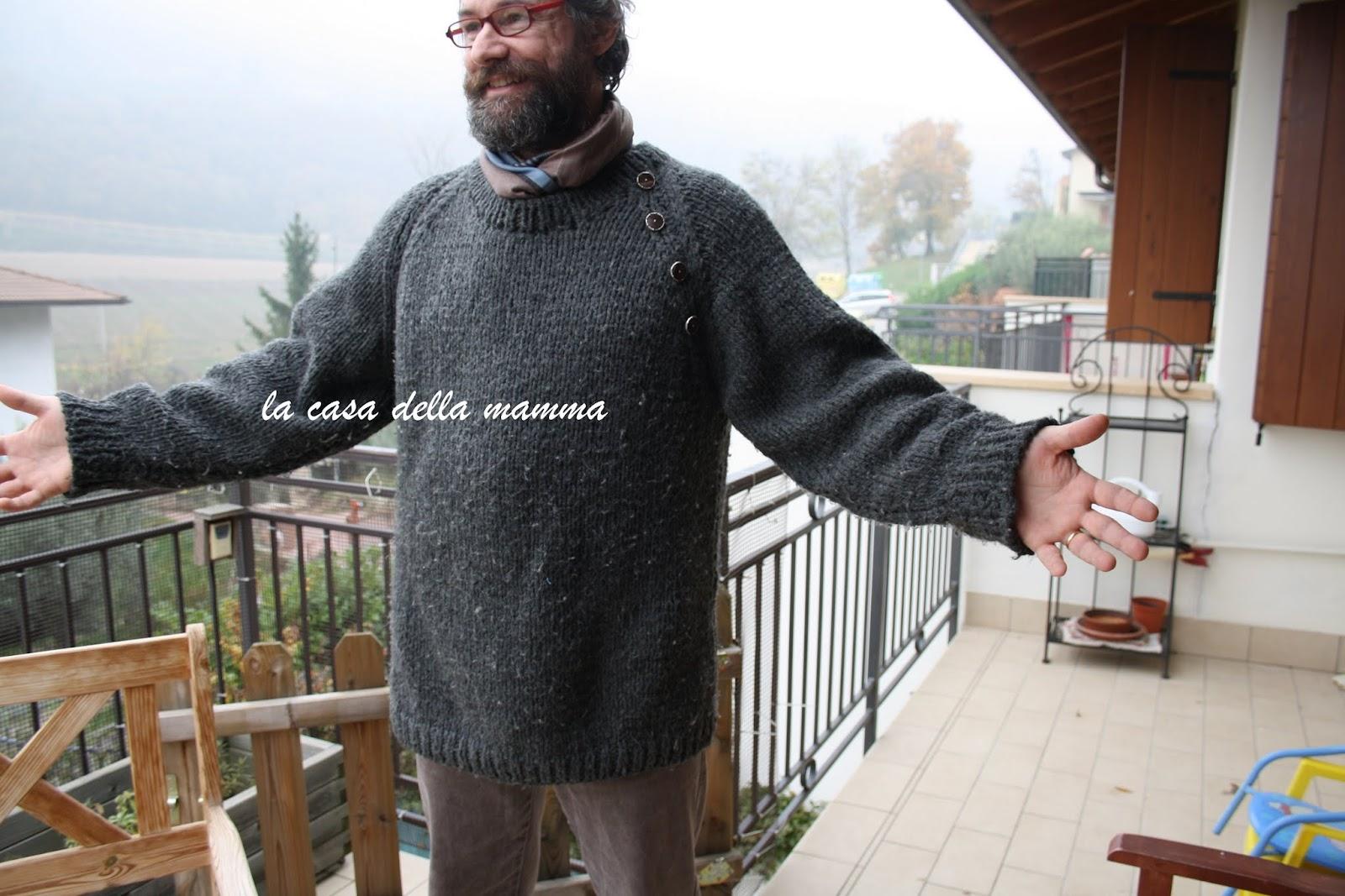 Famoso La casa della mamma: Maglione da uomo a raglan con bottoni XK01