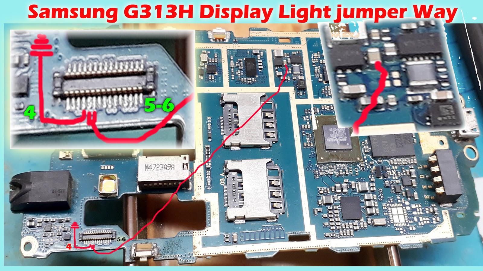 Only aasaan: Samsung G313HU/DD Display Light Jumper Way Solution