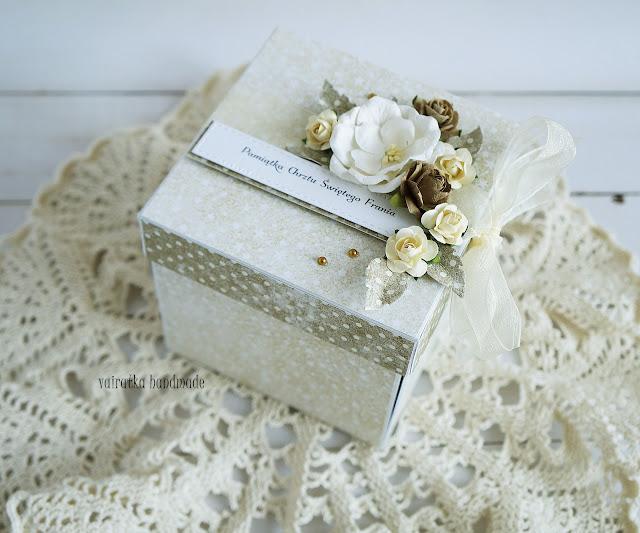 Elegancki box na chrzest