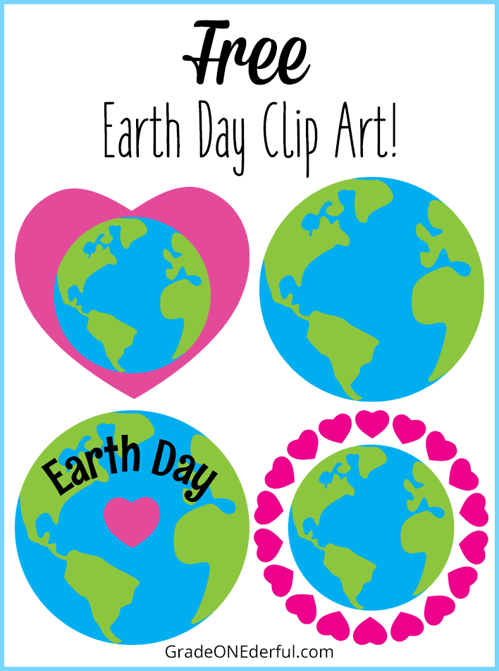FREE Earth Day Clip Art, a book review, and Earth Day classroom resources!