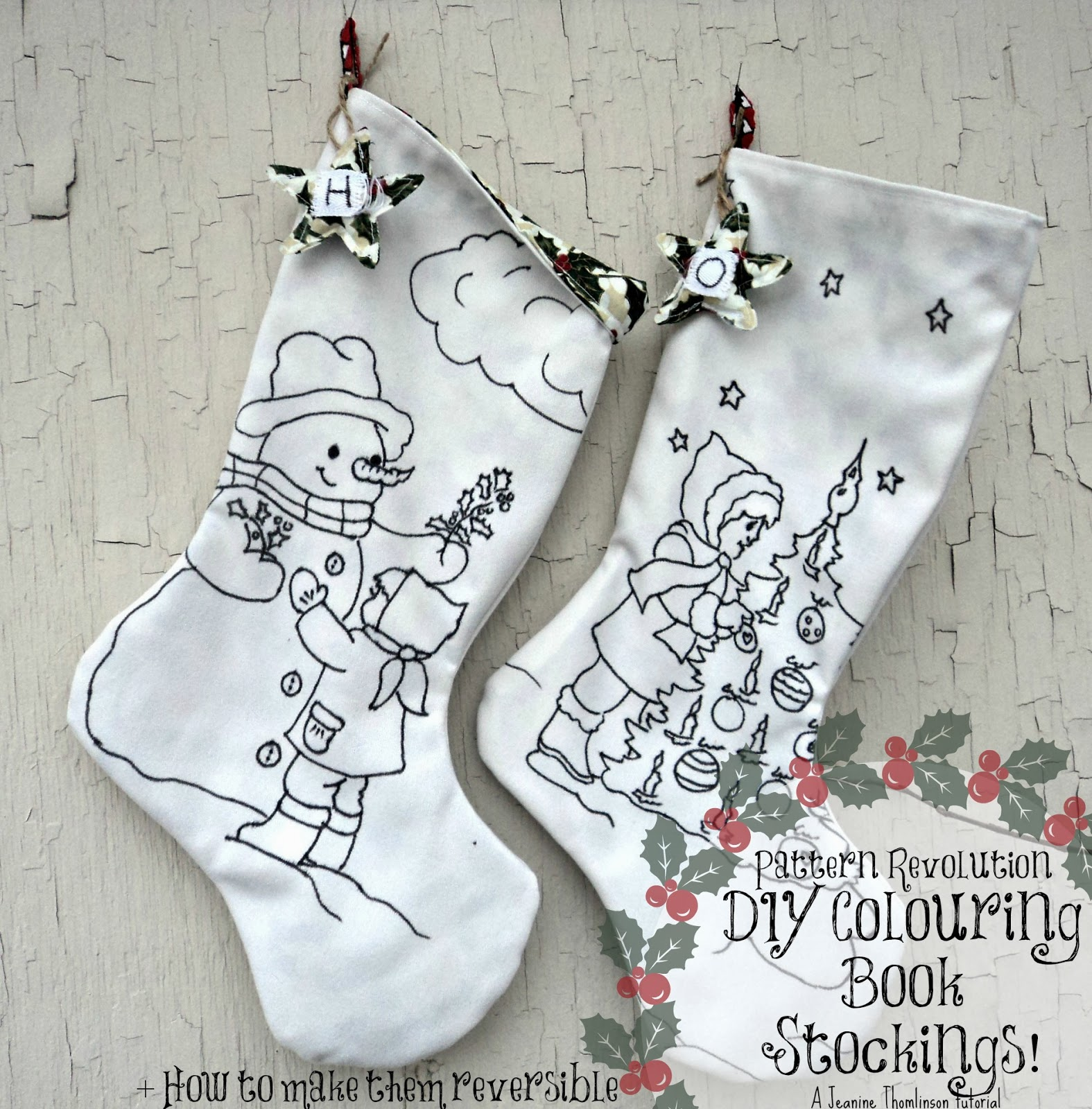 Make Your Own Coloring Book Stockings — Pattern Revolution