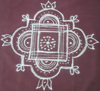 Easy Padi Kolam For Navarathri