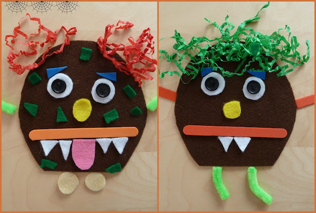 Make a monster busy bag kit for children