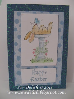 Card Make Penny Black Bunny Bath Easter