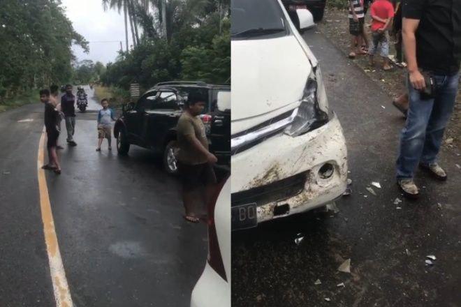 Dua Mobil Tabrakan di Bone Gegara Hindari Lubang di Jalan