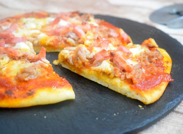Pizza Barbacoa. Vídeo Receta