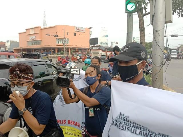Jurnalis Bekasi Galang Dana Untuk Korban Gempa Mamuju Dan Majene