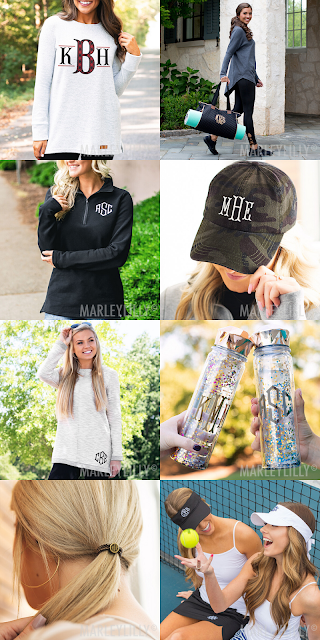 monogrammed athelisure clothing and accessories