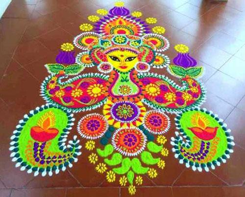 सिंपल रंगोली डिजाइन फॉर दिवाली