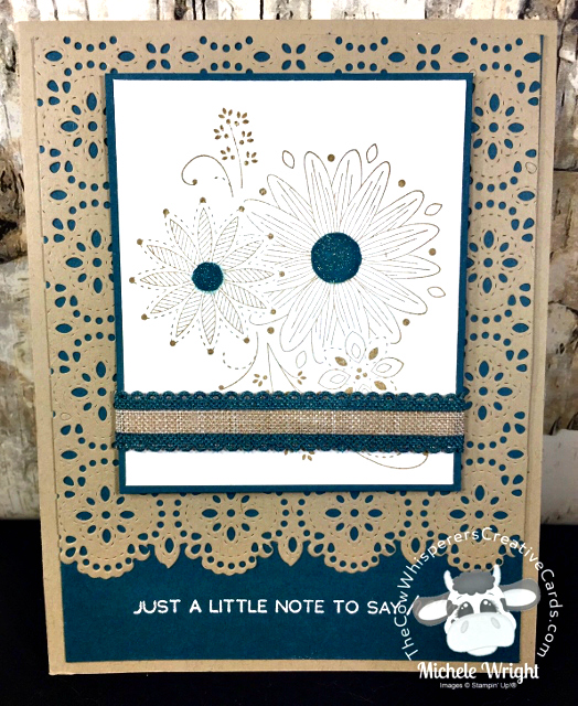 Card, A Little Lace, Stitched Lace Dies, In Colors