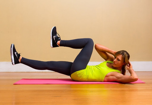 Crunches are a good way to tone to the body but it needs to be balanced with a starch-free diet