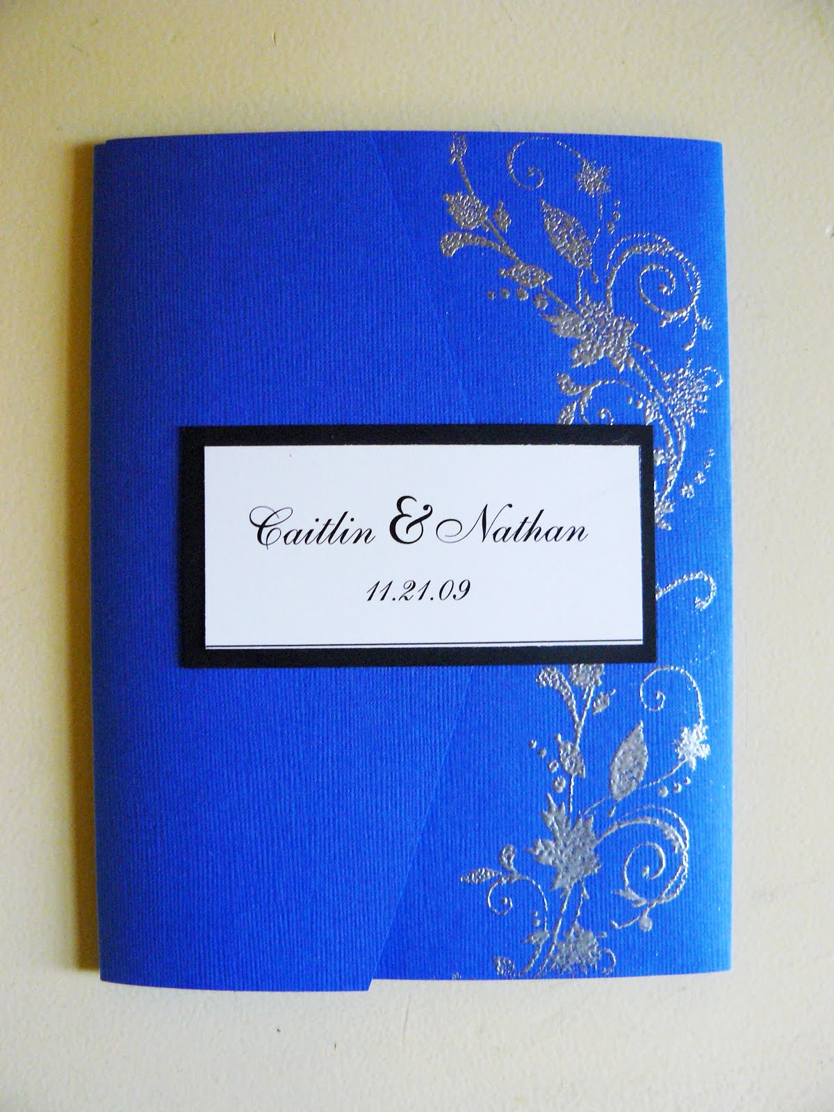 the woven home cardmaking wedding invitation