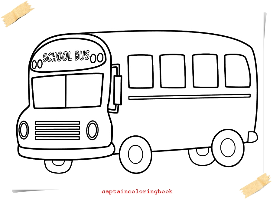 How to Draw School Bus-School Bus Coloring Pages - Coloring Page