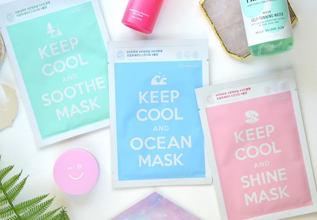 Keep Cool and Soothe, Ocean and Shine Mask Review