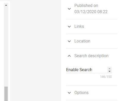 Search description for blogger post