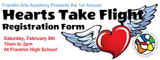Hearts Take Flight - Feb 9 - art workshop for students 6 - 12