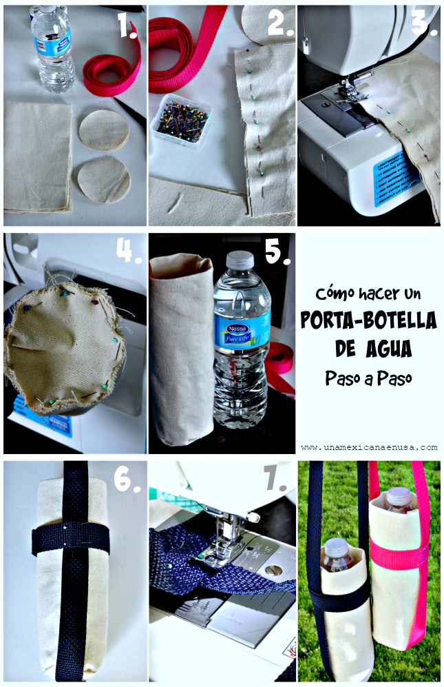 Cómo hacer un porta-botellas de agua para tus hijos by www.unamexicanaenusa.com