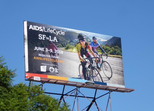 AIDS LIfeCycle 2018 signup billboard