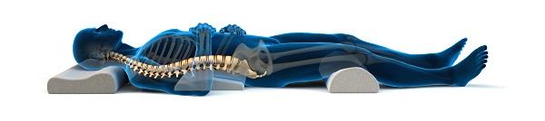 terapi tidur posisi menelentang untuk mengurangkan sakit belakang dgn bio velocity sleep mate