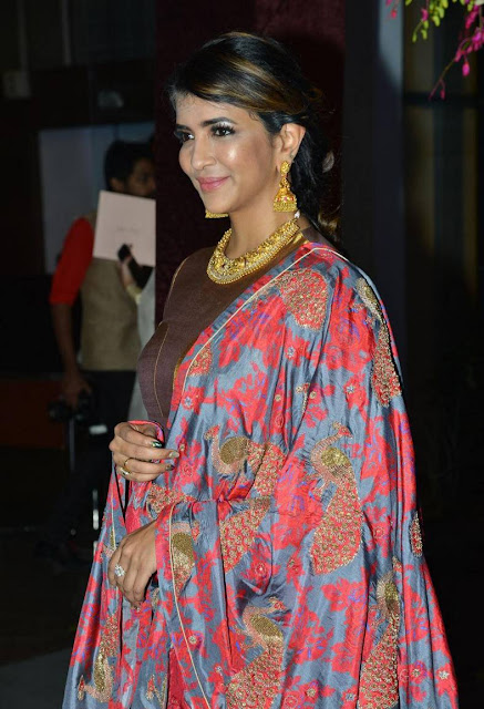 Manchu Lakshmi Stills At Sania Mirza Sister Marriage