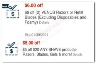 razor coupons