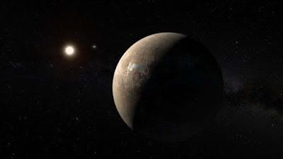 La estrella enana roja Próxima Centauri es circundada por dos exoplanetas.