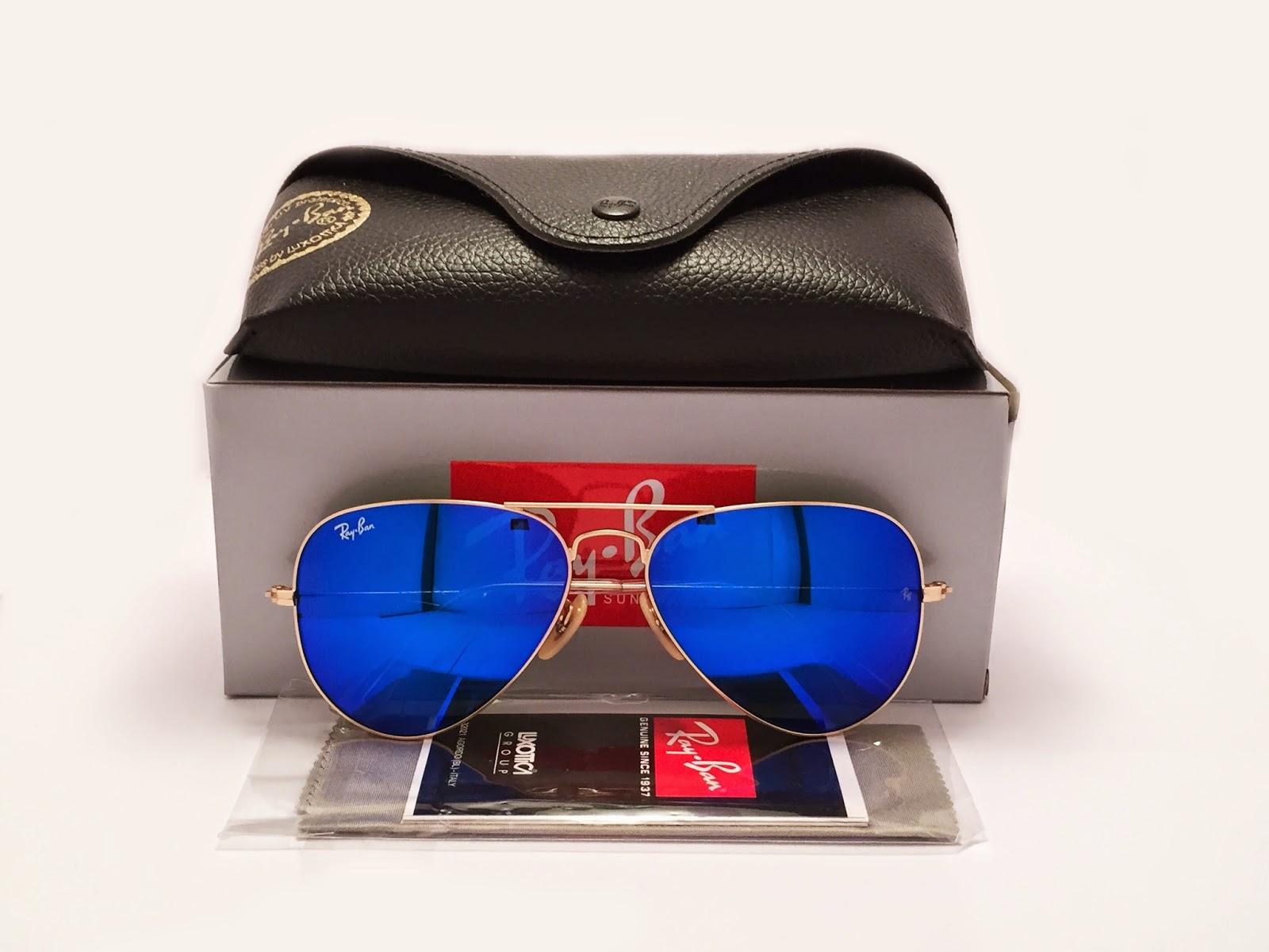 5f21508821 Ray Ban Aviator Blue Lense