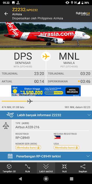 Aplikasi pelacak pesawat terbang