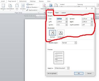Mengatur Margin di Microsoft Word