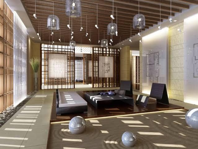 Modern Zen Style Living Room Home Design Ideas