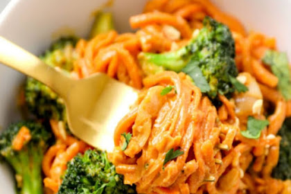Peanut Sauce Sweet Potato Noodles Recipe