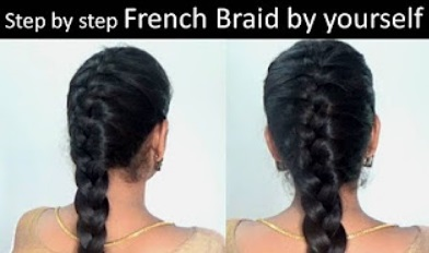 French braid in 5 minutes| Step by step video