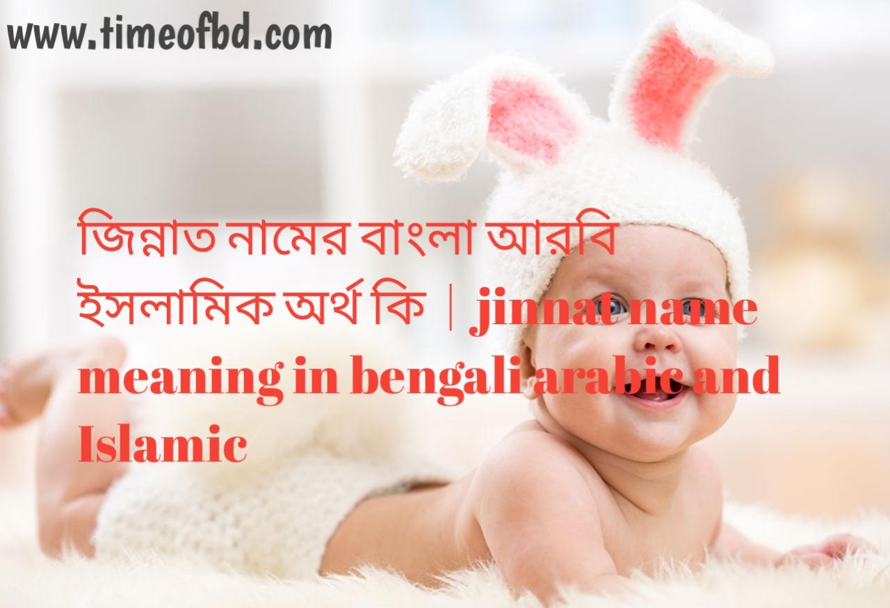 জিন্নাত নামের অর্থ কী, জিন্নাত নামের বাংলা অর্থ কি, জিন্নাত নামের ইসলামিক অর্থ কি, jinnat name meaning in bengali